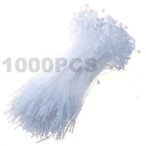1000-pieces weiß Schnappverschluss 12,7cm Pin Sicherheit Loop, Kunststoff Papier Preis