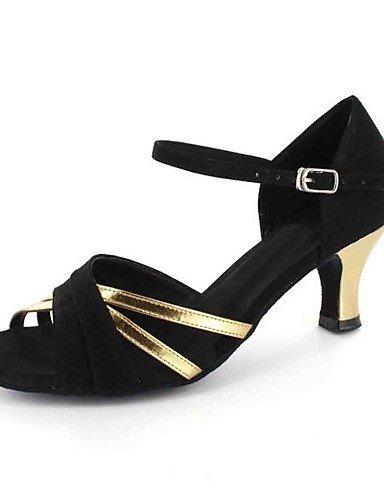 ShangYi Chaussures de danse(Argent / Or) -Personnalisables-Talon Personnalisé-Similicuir-Latine Silver