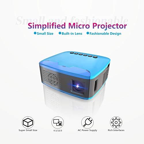 Mini Beamer, STOGA Mini Tragbarer LCD Beamer LED Projektor Heimkino Beamer Full HD Multimedia Unterstützung mit 2000 Lumen Unterstützt Videospiele 1080P Video Projektor-Blau