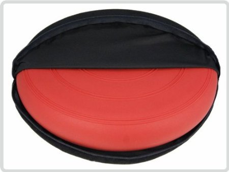 Ballsitzkissen Sitzkissen Kissen Rot inkl. Pumpe und Bezug Ø 36cm,Suedine, schwarz