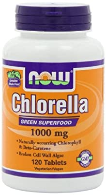 NOW Foods Chlorella 1000mg, 120 Tablets(Size: 120) by Now Foods