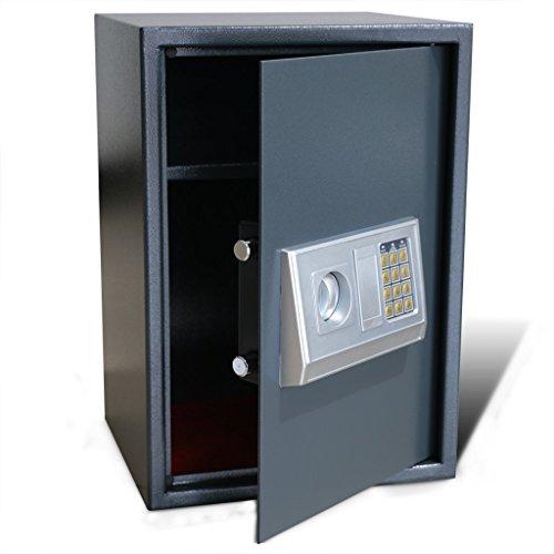 Festnight Caja Fuerte Electrónica Digital con Estante Interior - Material de Acero, 35 x 31 x 50 cm