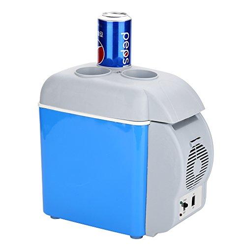 12V frigorífico portátil de coche, 7,5L 2en 1mini frigorífico de coche de...
