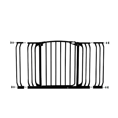 Dreambaby Chelsea Xtra-Wide Safety Gate Set - 1 gate + 2 extensions (Fits 97cm-133cm) Black