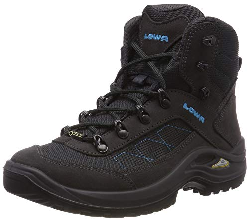 Lowa Taurus II GTX Mid WS, Chaussures de Randonnée Hautes Femme, Noir (Antracite 0937), 41 EU