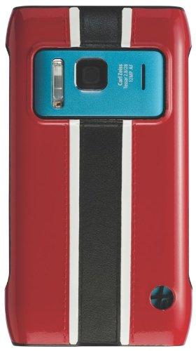 Trexta Racing-Cover per Nokia N8, Colore: Rosso