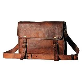 Alaska exports, borsa a tracolla in vera pelle, per computer portatile, da uomo e da donna 10 x 13 inch