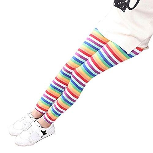 Mädchen Leggings OVERMAL Hosen Mädchen Skinny Blumen Drucken Hosen Stretch Mädchen Slim Bleistift Hosen (12-13 Jahre, Heiß Rosa) (Mitte Der Taille Leggings)