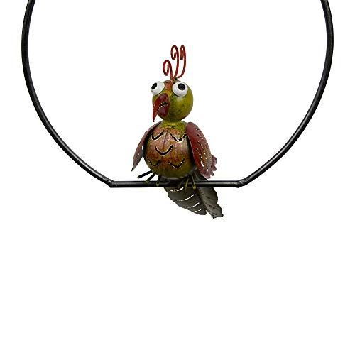Silamo Gartenpendel Vogel Kakadu, rund, Wippe, Schwanzfeder, grün, 115 x 24 x 20 ()