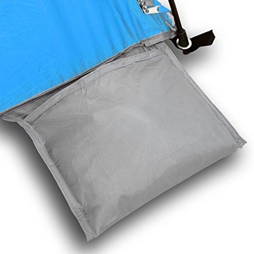 Qeedo Strandmuschel Quick Palm - Blau mit UV-Schutz (UV80 nach UV-Standard 801) - kleines Packmaß - schnell aufzubauender Sonnenschutz - 8