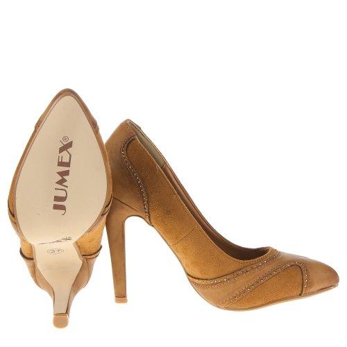 Damen Schuhe, HP7801, PUMPS Camel