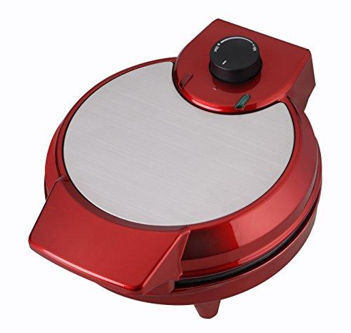 Efbe Elektrogeräte Waffelautomat, Kunststoff, Rot, 28 x 22.5 x 13.5 cm