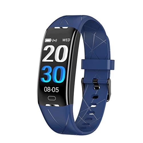 Fitness Tracker , Wasserdicht IP68 Fitness Trackers Herz Bewertung Monitor Farbe Bildschirm Zähler Schlafen Monitor Kalorie Zähler Zum Frau Mann Draussen Sport ( Color : Blue , Size : 250*19*12.5mm ) - Zähler-monitor Kalorien