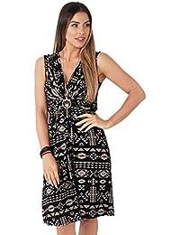 KRISP® Women Knot Front Dress Ruched Flattering Stretch Spring Dresses