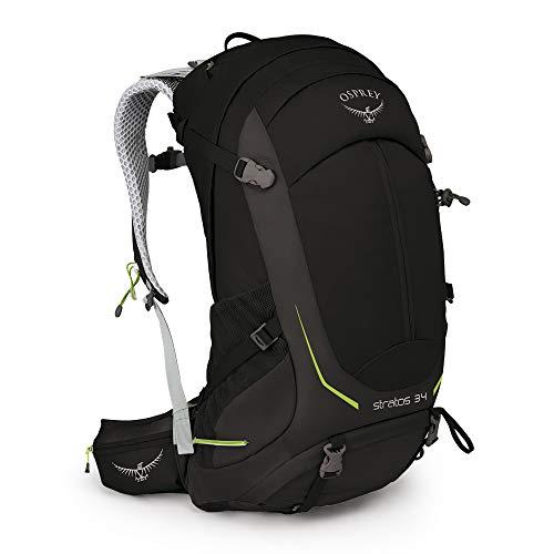 Osprey Stratos 34 Men's Ventilated Hiking Pack - Black (M/L)