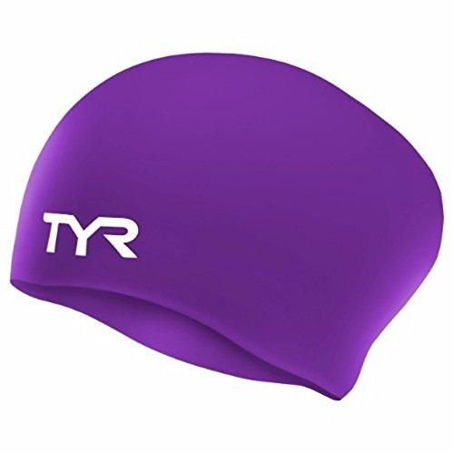 Free People Violett (TYR Long Hair SILCON Cap, Purple, one Size)
