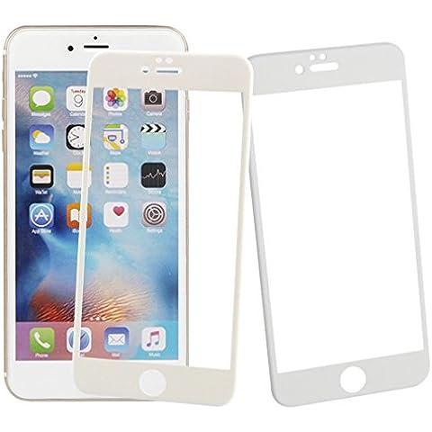 iPhone 6s plus,iPhone 6 plus 5.5 pulgadas protector,Asnlove 2 Set Protectora de Pantalla Cristal,Ultrafino Tempered Glass Protector de Pantalla de Vidrio Templado Screen Protector Dureza de Grado 9H,Espesor 0,3 mm-2.5D para Apple iPhone 6s plus Blanco Malla y