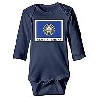 VTXWL Unisex Newborn Bodysuits New Hampshire Girls Babysuit Long Sleeve Jumpsuit Sunsuit Outfit Navy