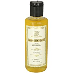Khadi Sweet Almond Oil, 210ml