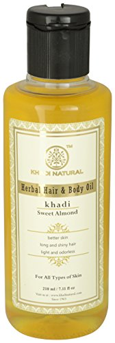 Khadi Natural Sweet Almond Oil, 210ml