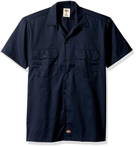 Dickies Herren Freizeithemd Work Shirt Short Sleeved, Blau (Dark Navy Dn), Small (Herstellergröße: S)