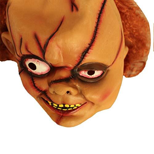 HYSMJ Masken Halloween-Urlaub High-End-Latex Umweltmasken Aufregend Gruselig und Geruchlos