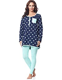 6be7fc3ad Be Mammy Pijamas con Lactancia Function Manga Larga para Mujer BE20-178