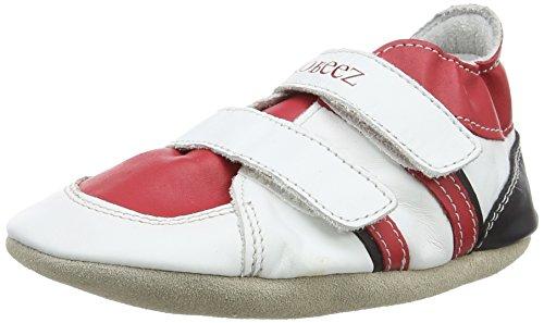 Robeez Baby, Jungen Fast Feet Krabbel- & Hausschuhe, Black/Red, 6-12 Monate -