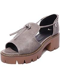 Sandalias Mujer Sin Tacon 40 Zapatos Amazon Para es 5 PwzqTn1g