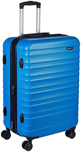 AmazonBasics Valise rigide à roulettes pivotantes, 68 cm, Bleu ciel