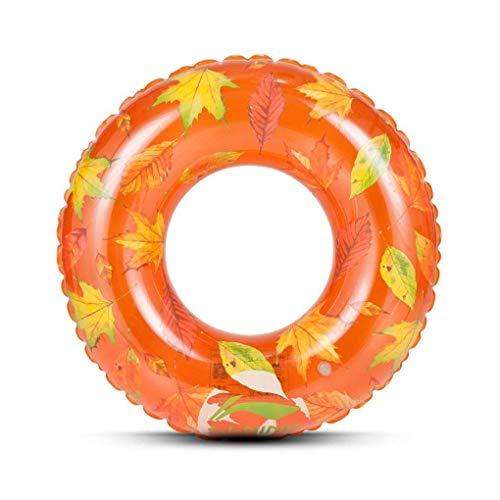 Q. AWOU Schwimmringe Erwachsene Kind PVC Verdickung Reise Urlaub Tragbare Schwimm Reihe Aufblasbare Spielzeug (Farbe: 90 cm)