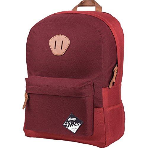 Urban Classic Old School Daypack mit gepolstertem Laptopfach, urbaner Streetpack im Retro-Look, Alltagsrucksack, Schulrucksack, Schoolbag, Chili,  20 L, 420 gr -