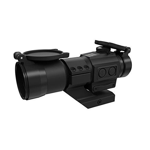 Holosun HS406C Tube Reflexvisier Rotpunkt Visier mit 2MOA Punkt Absehen u. Solarzelle, schwarz, Picatinny/Weaver Gewehr Montage, Jagd, Sportschießen Softair, Tactical - 70127409