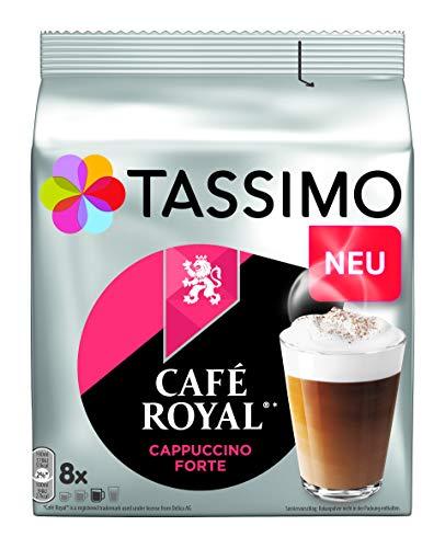 Tassimo Kapseln Café Royal Cappuccino Forte, 40 Kaffeekapseln, 5er Pack, 5 x 8 Getränke