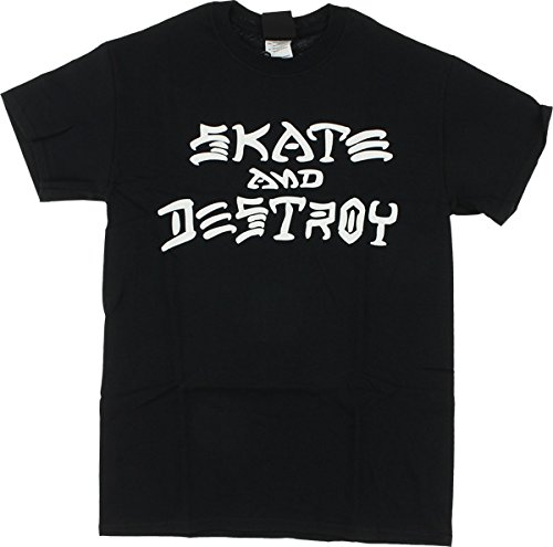 Thrasher skateboard magazine skate and destroy black medium t-shirt by thrasher