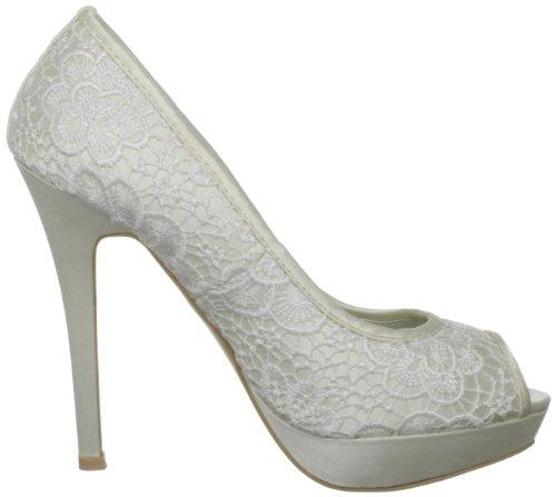 Menbur Wedding Raquel 4986 Damen Peeptoes Elfenbein (ivory 04)