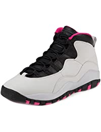 GIRLS AIR JORDAN 10 RETRO (GS) 'VIVID PINK' - 487211-008 - US Size