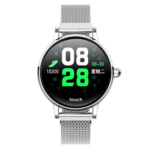 Knowin Smart Watch Big Disc Bluetooth Smartwatches Solt Sleep Monitoring Anti-Lost Heart Rate Monitor and Pedometer for IOS and Android System Sport Armband Band -