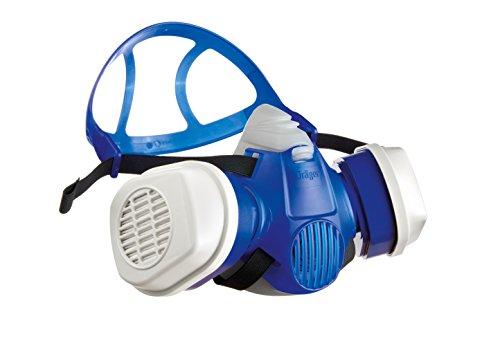 Dräger X-plore 3300 Halbmasken-Set inkl. A2P3 Kombi-Filter | Atemschutz-Maske für Maler und Lackierer gegen Gase, Dämpfe, Fein-Staub und Partikel