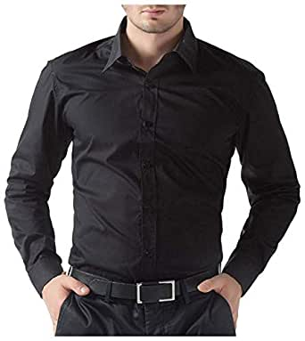 BEING FAB Men's Casual Shirt by Fablifestyle Black