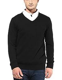 Super Weston Plain Black Sweater For Winters