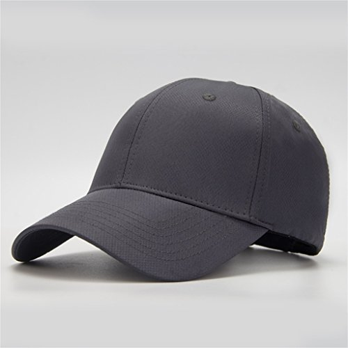Schnell trocknender Hut-Sommer-Baseballmütze-großer Kopf Wai-Kappen-Sonnenschutz-Breathable zufälliger Visier-große Größe (Farbe : Grau, größe : Plus Size 61-66cm)
