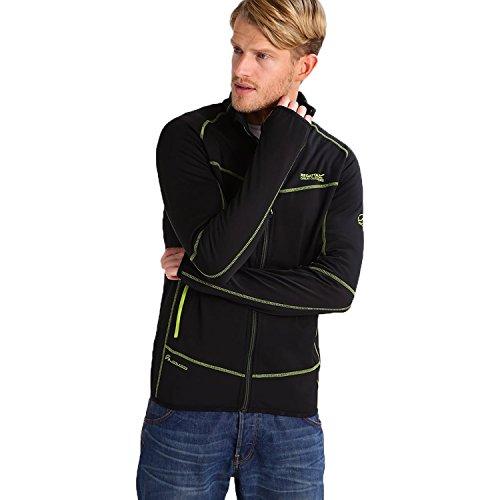 Regatta Herren Sumatra II Softshell Wasserabweisend Hybrid-Jacke–Schwarz (rml135) XL schwarz (Leichte Herren Hybrid-jacke)