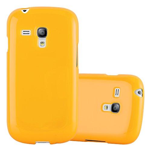 Cadorabo Custodia per Samsung Galaxy S3 Mini in Jelly Giallo – Morbida Cover Protettiva Sottile di Silicone TPU con Bordo Protezione – Ultra Slim Case Antiurto Gel Back Bumper Guscio