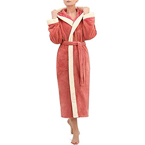 SHOBDW Bathrobe Women Winter Long Sleeve Solid Super Soft Fluffy Plush  Flannel Luxury Shawl SPA Gym 43c8e7faa