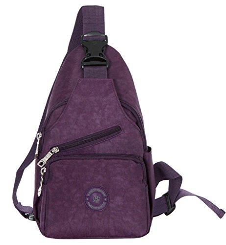 la-vogue-adult-outdoors-camping-hiking-cross-body-sling-bag-shoulder-satchel-waist-bag-purple