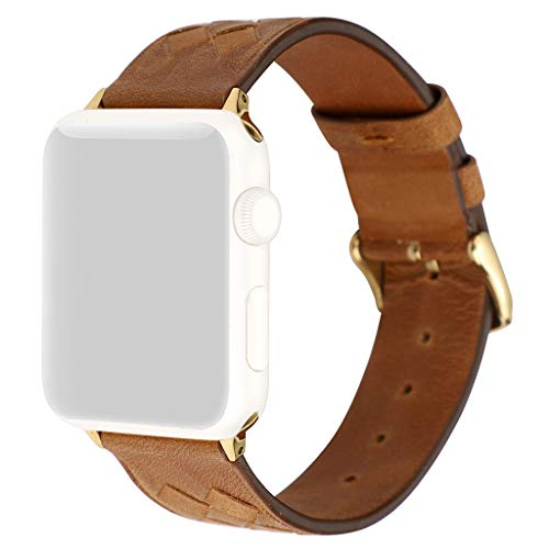 1/2 Schatten Lampe (Webla Advanced Soft Leather Strap Uhr für Apple Watch 1/2/3/4 in Lederarmband, 42 / 44mm)