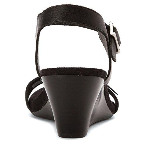 Vionic Womens 382 Laurie Leather Sandals Noir