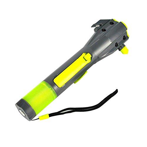 XLN six-in-one Multifunktions-Taschenlampe Escape Taschenlampe Hand Kurbel Generator Taschenlampe Wasserdicht Notfall Hammer Notfall Warnlicht Survival Outdoor Taschenlampe 703B -