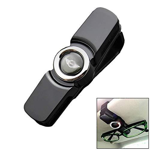 Mirage Glas-Halter for Auto-Masken-Sonnenbrille mit Karte und Ticket Clip geeignet for Mini, Goldside (Color : Silverside)